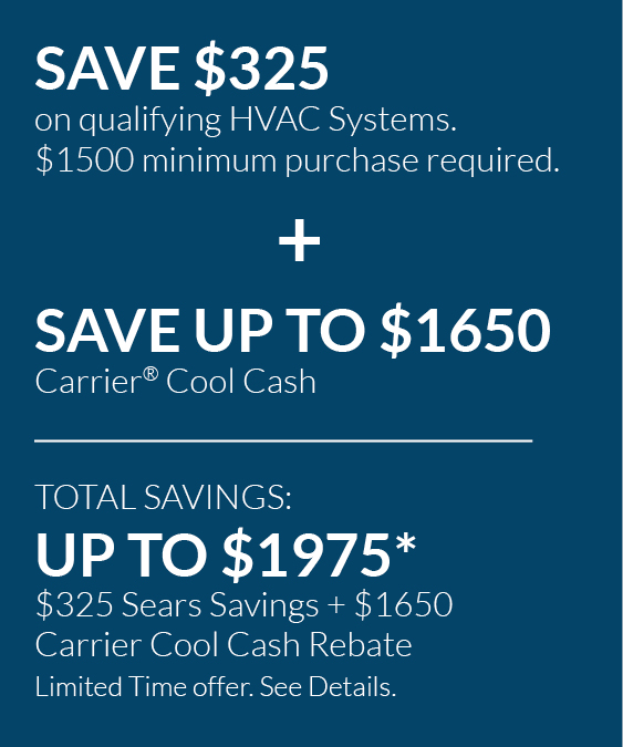 save up to $1,975 with rebates and tax credits on new heating and cooling systems