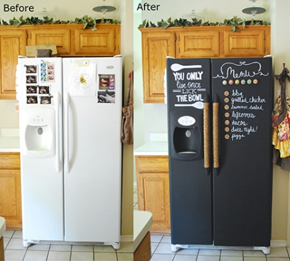 chalkboard fridge