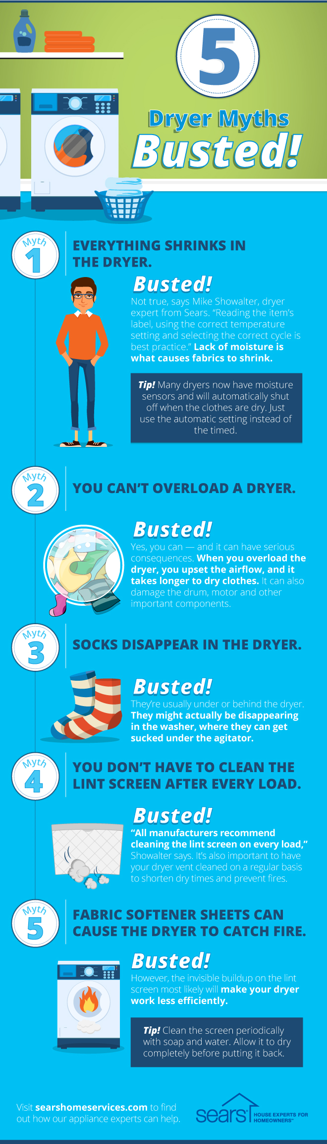 5 Laundry Myths Debunked: Dryer Edition
