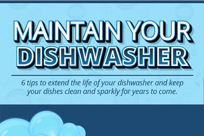 Maintain your dishwasher