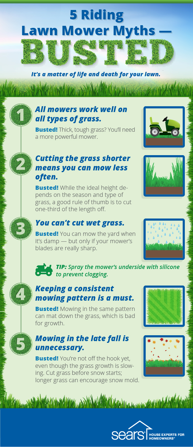 riding mower myths
