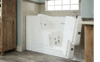 walk-in tubs, including hydrotherapy and soaking tubs