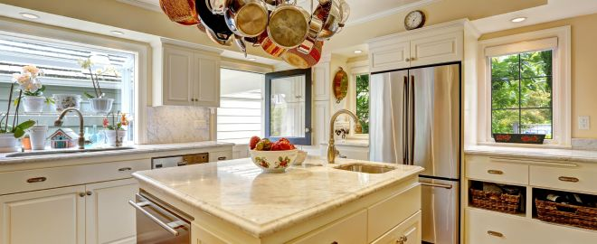 Reduce the amount of clutter in your kitchen with these kitchen space saving ideas.