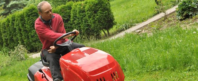 Get your lawn mower or riding mower tuned up or repaired.