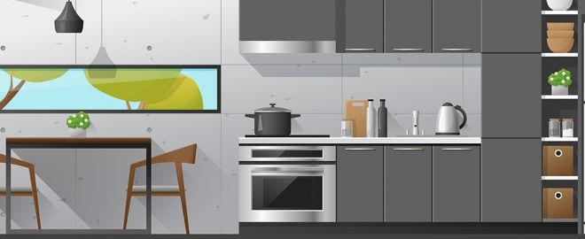 illustration of kitchen