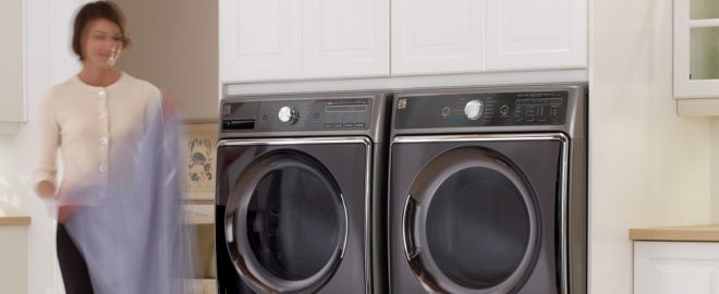 Kenmore Washer and Dryer Laundry Room