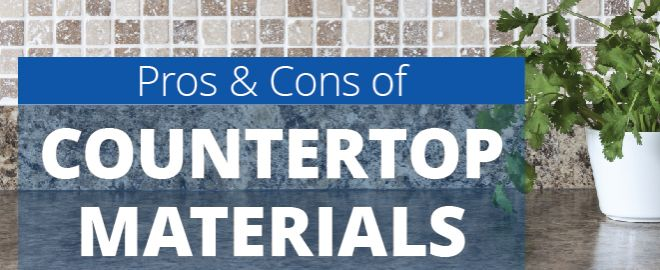 Explore new countertops for your bathroom or kitchen