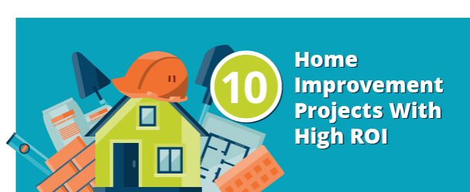 10 home improvement projects with high return on investment for Home improvement roi