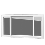 End Venting Slider - This slider offers a simple, sleek look with three pane windows featuring two operable sides. Ideal for wide openings.