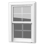 Double Hung Window - This popular and classic favorite is a standard window in most homes. Both sashes open, allowing ventilation from top and bottom.