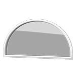 Geometric Fixed Window - These windows are available in a variety of decorative shapes and styles, provide light and architectural interest. They do not open.